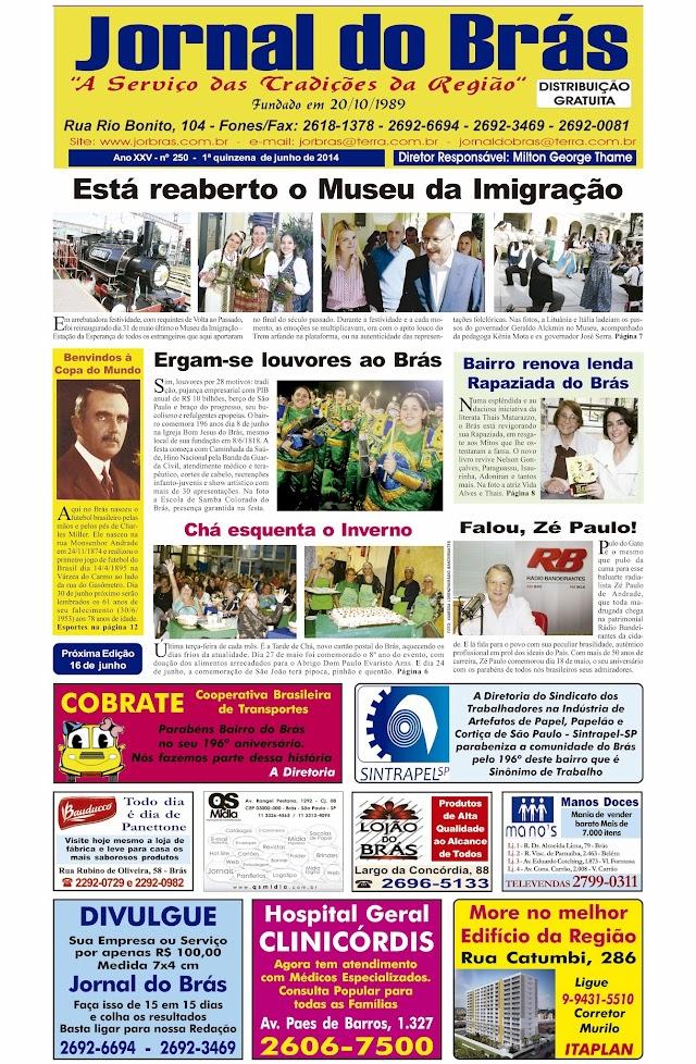 Destaques da Ed. 250 - Jornal do Brás