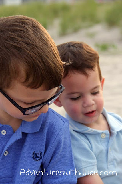 Jude and Damien on the beach