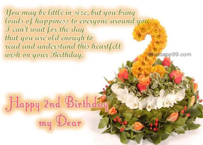 2nd Happy Birthday Wishes Messages For Sweet Baby Really Happy Birthday Wishes For My 2 Year