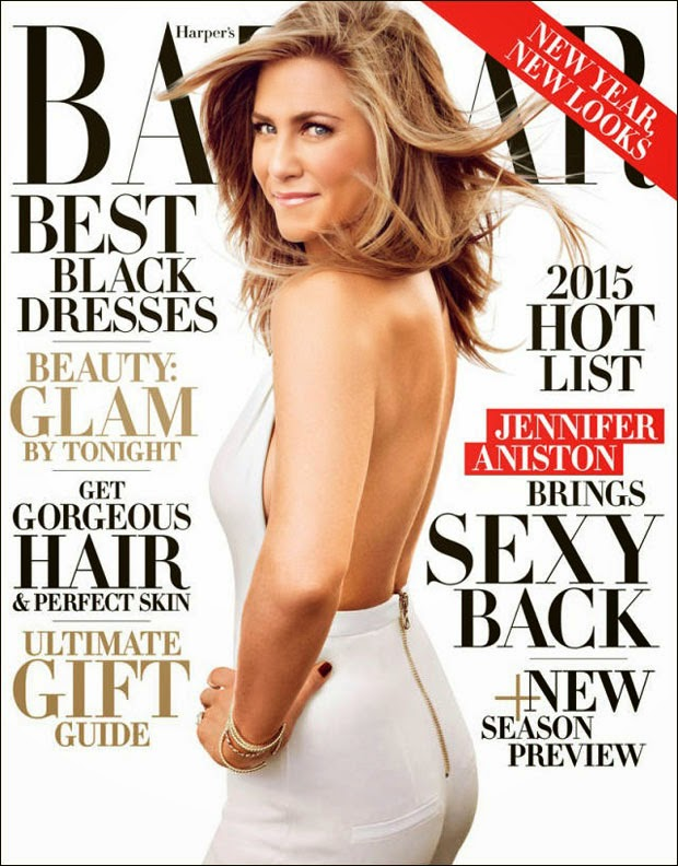 Jennifer Aniston covers Harper's Bazaar US December 2014