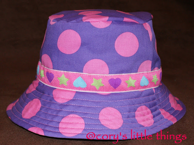 """Purple Pink Polka Dots"" Summer Hat / Palarie de vara ""Purple Pink Polka Dots"""