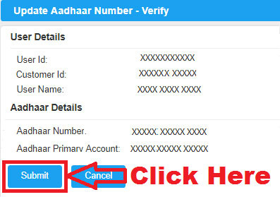 how to link aadhaar number with canara bank account