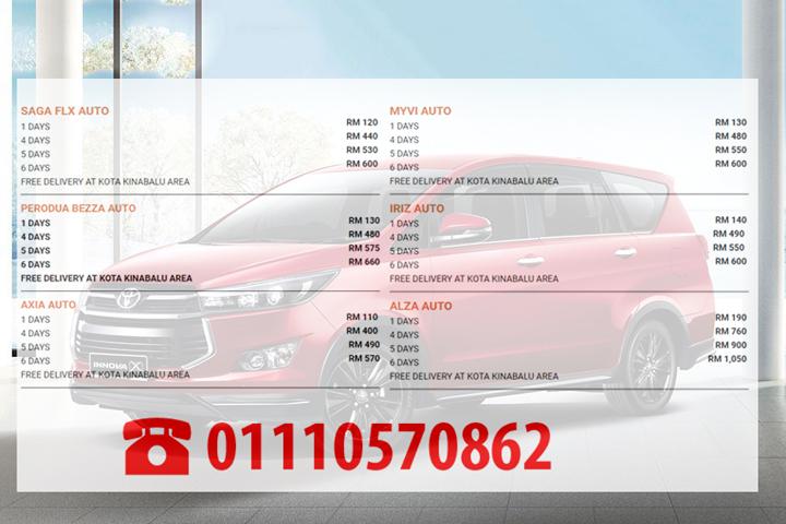 Harga Sewa Kereta Best Borneo Car Rental (Sabah)