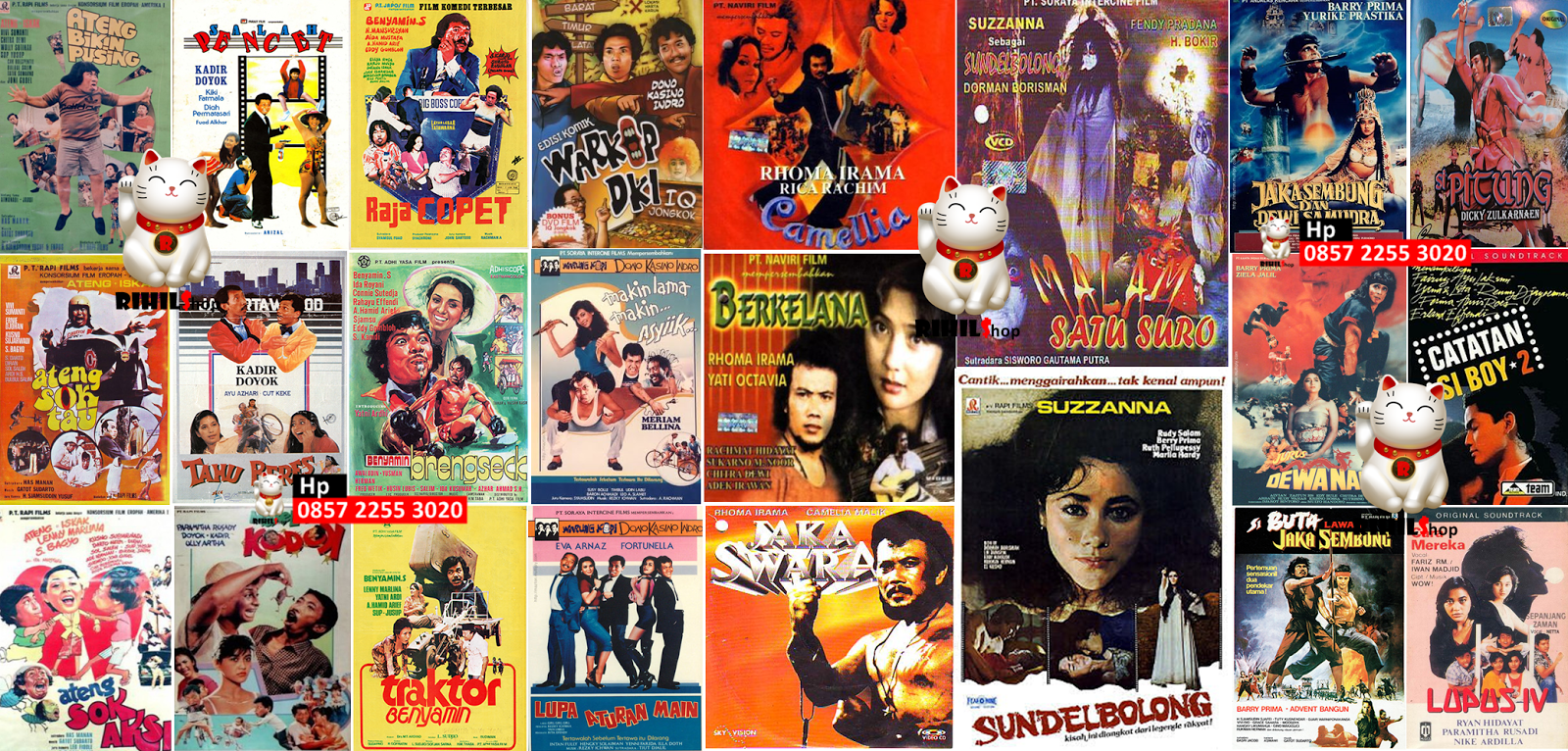 jual kaset film indonesia jadul lengkap