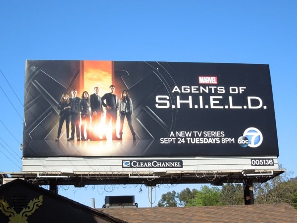 Marvel Agents of SHIELD season 1 billboard