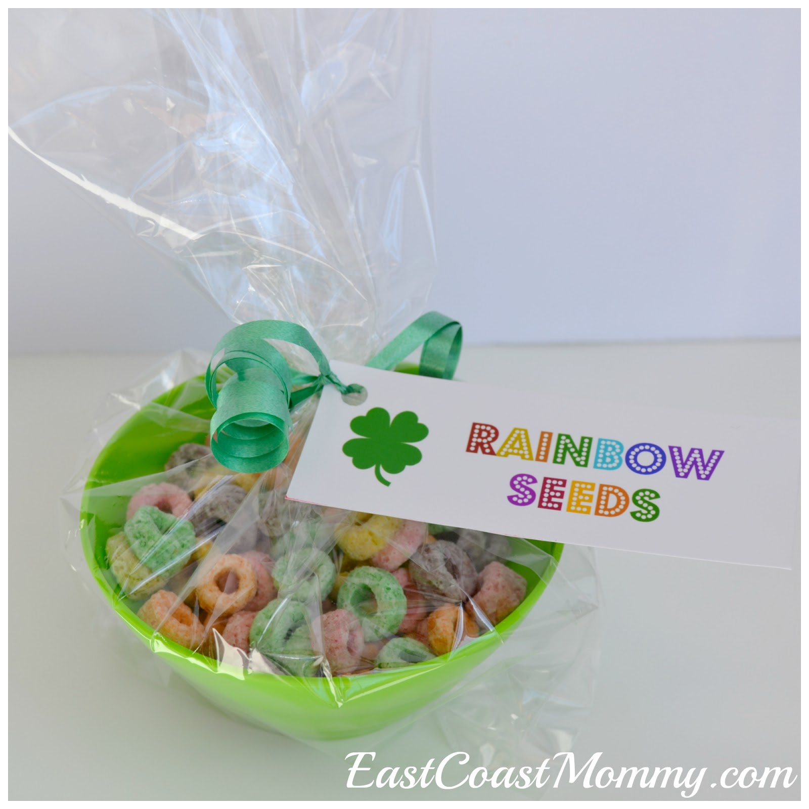 East Coast Mommy: St.Patrick's Day Breakfast (Rainbow Seeds