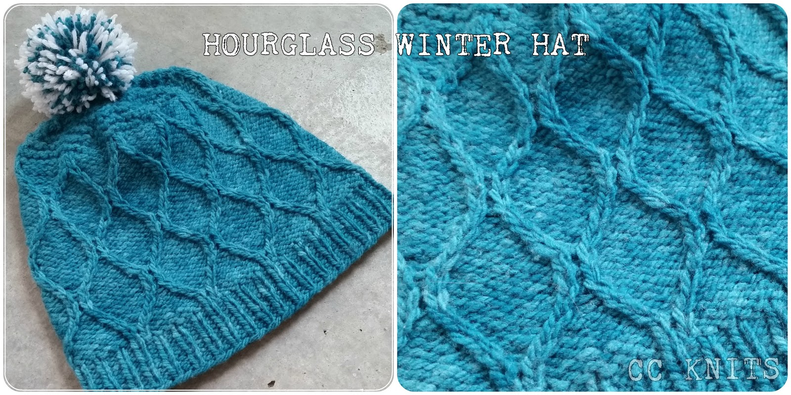 CC Knits: Hourglass Winter Hat (or My First Published Knitting Pattern)