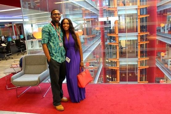Linda Ikeji with Nkem Ifejika