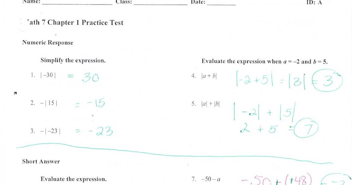 Ms. Jean's Classroom Blog: Chapter 1 Practice Test Answers