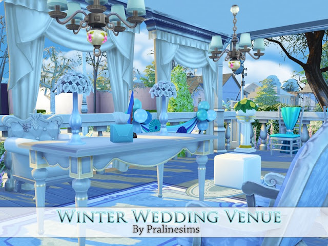 Sims 4 CC's - The Best: Winter Wedding Venue by Pralinesims