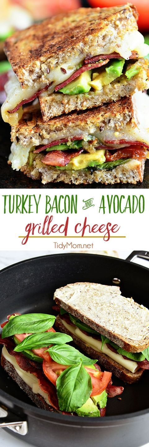 Turkey bacon And Avocado Grílled Cheese