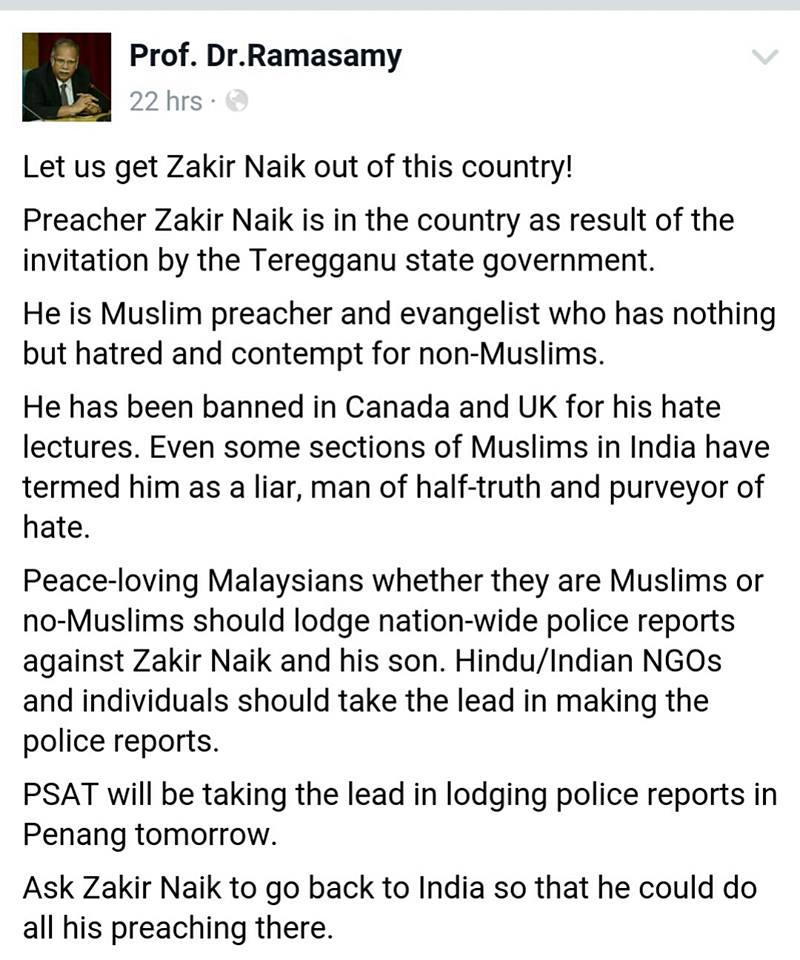 Lucifer Dalam Islam Adalah: Kurang Ajarnya ADUN DAP Ni Bila Gelar Pendakwah Dr Zakir