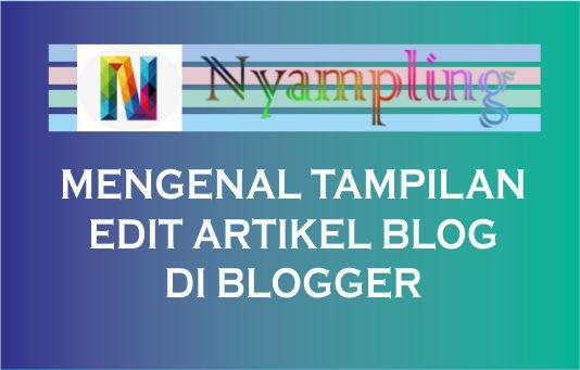 Mengenal Tampilan Layar Edit Artikel Pada Blogger