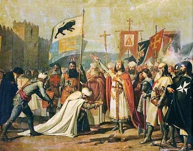 Reconquista de Córdoba por São Fernando, rei de Castela em 1236. José María Rodríguez de Losada (1826 - 1896)