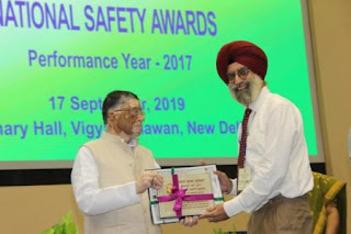 Rashtriya Puraskar and National Safety Awards for the Performance Year 2017