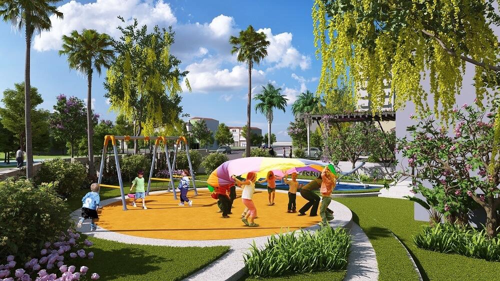 Sân chơi trẻ em tại dự án Amber Riverside MInh Khai