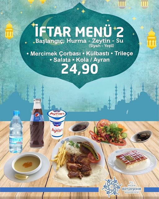 aydın merkez iftar yapılacak mekanlar aydın'da iftar menüleri aydın merkez restoranlar