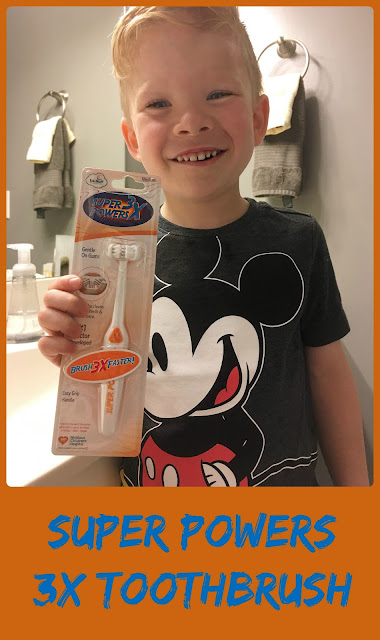 KidzStuff Super Powers 3X Toothbrush Review - a revolutionary new toothbrush designed by a pediatric dentist, with kids in mind