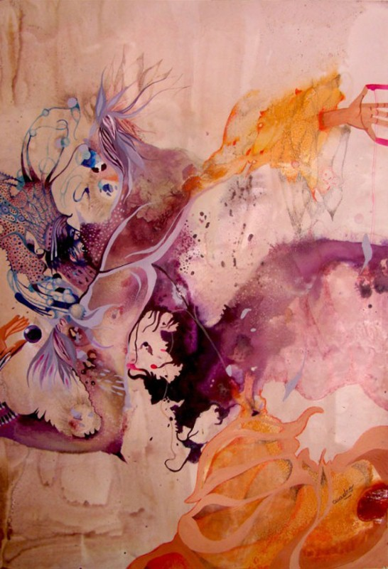 Наивные рисунки акварелью. Estela Cuadro 15