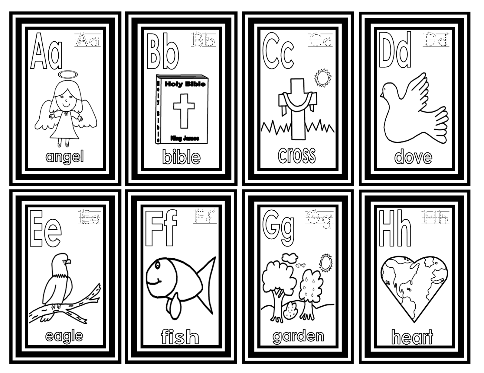 Teachers R US: Bible Alphabet Small Flashcards