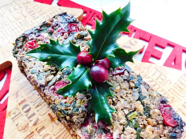 Cavolo Nero and Cranberry Christmas Nut Roast