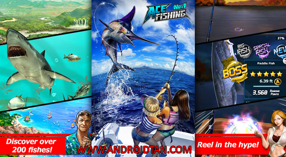 Free Download Ace Fishing: Wild Catch Mod Apk v2.3.7 (Unlimited Money) Android Terbaru Full Latest Version 2017