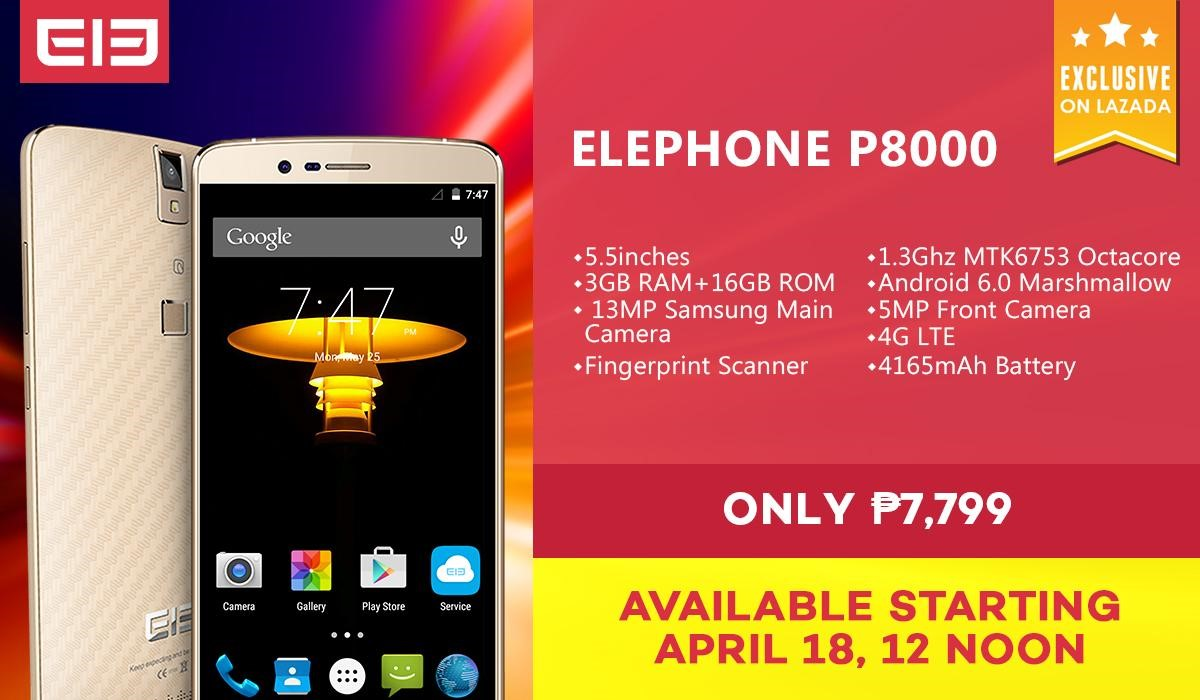 Elephone P8000: Specs, Price and Availability in the Philippines