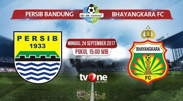 Prediksi Bola : Persib Bandung Vs Bhayangkara FC , Minggu 24 September 2017 Pukul 15.00 WIB @ TVONE