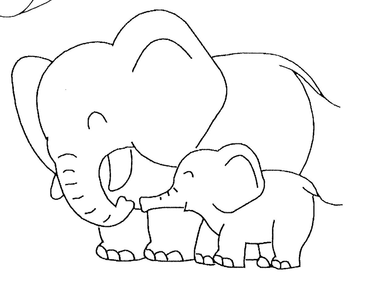 10 Mewarnai Gambar Gajah