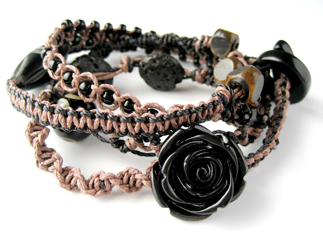 Another micro macrame wrap bracelet by Sherri Stokey.