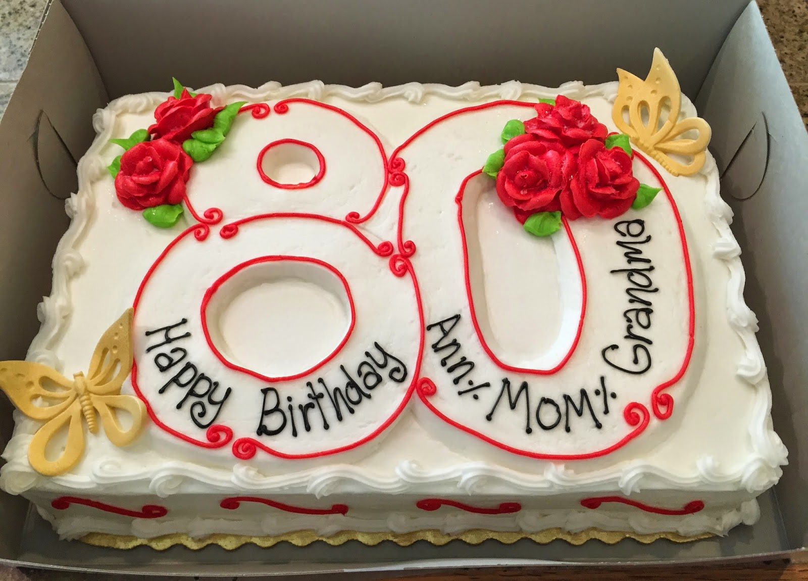 The Flying Stamper: Mom's 80th Birthday Card