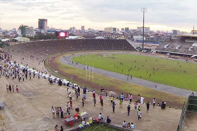 Phnom Penh's Olympic Stadium, which Vann Molyvann regards as his crowning architectural achievement. Photo supplied