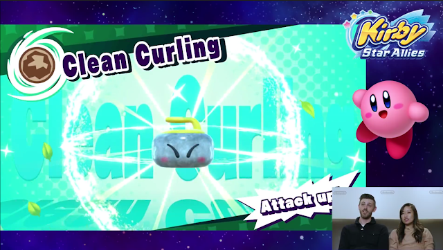 Kirby Star Allies Clean Curling team up attack friend ability Stone
