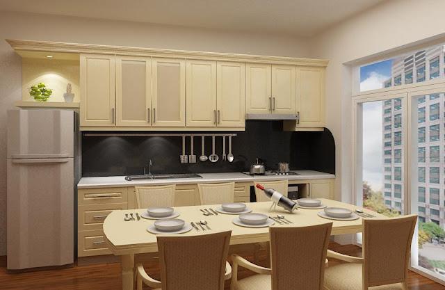 Mẫu thiết kế phòng bếp căn hộ Booyoung Vina