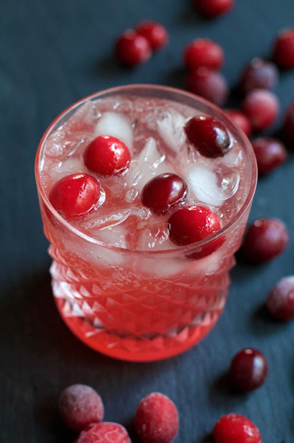 Cranberry Ginger Spritzer || A Less Processed Life