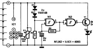Simple Garage Stop Light Circuit Diagram
