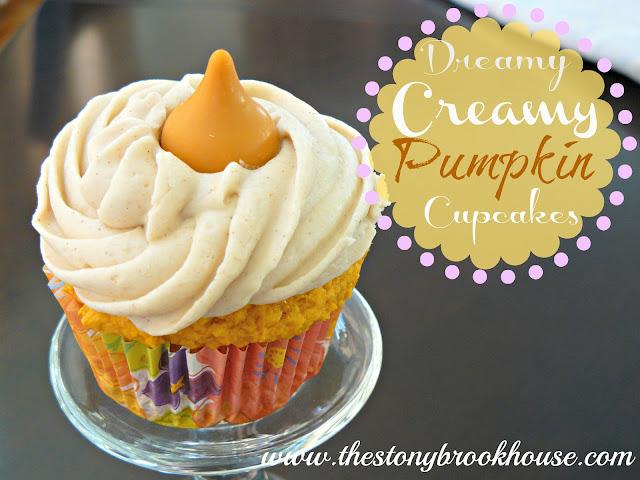 Dreamy Creamy Pumpkin Cupcakes