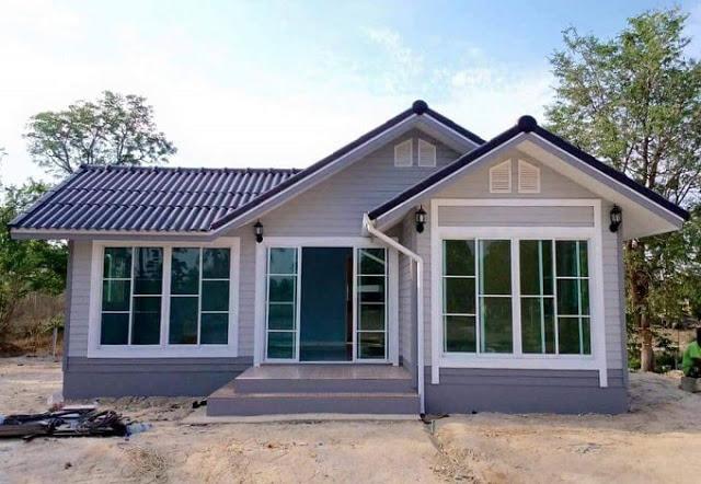 45 Desain Rumah Kampung Minimalis Sederhana Tampak Cantik Indah