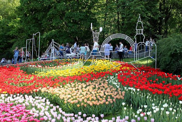 Презентация Киева на выставке тюльпанов 2018