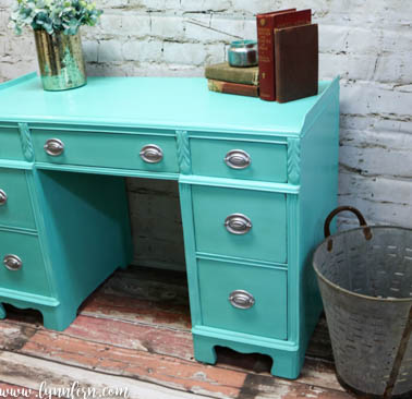 CeCe Caldwell Turquoise desk