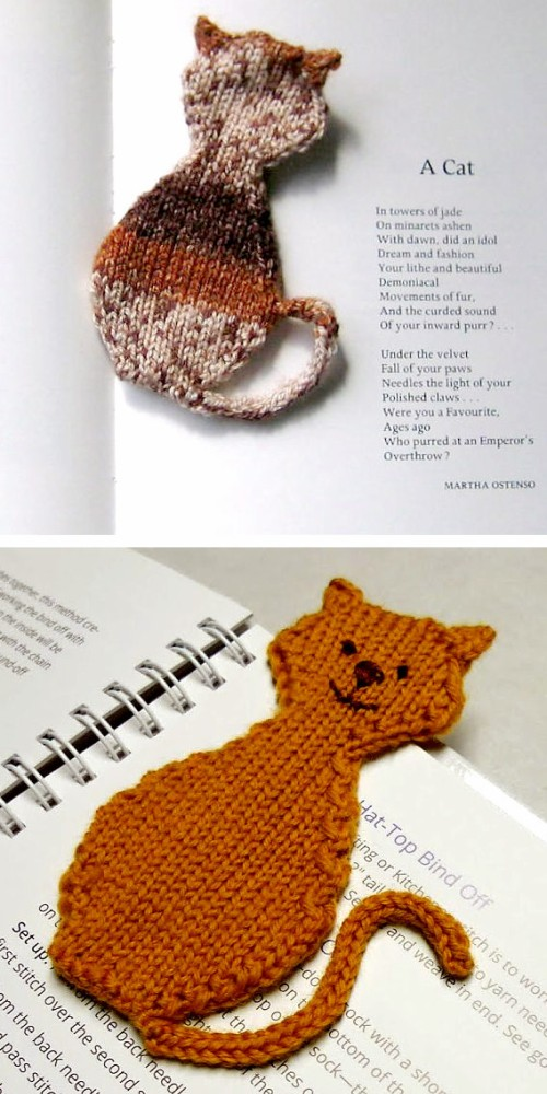 Cat Silhouette Bookmark - Free Pattern