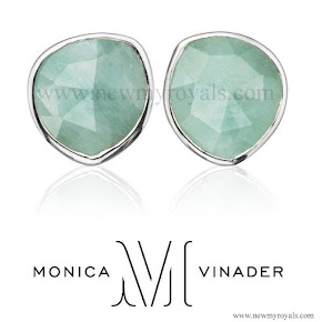Sophie, Countess of Wessex style Monica Vinader Siren Stud earrings