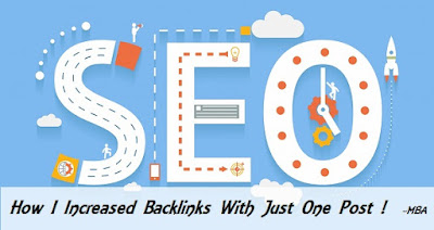 increase backlinks with one post