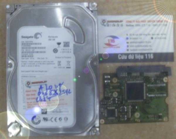 Cứu dữ liệu ổ cứng cháy mạch hỏng cơ 250Gb