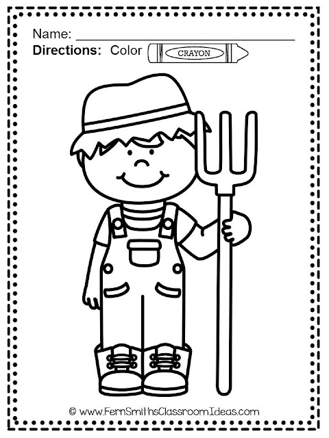 Color for Fun - Farm Fun - Coloring Pages at TeacherspayTeachers from Fern Smith's Classroom Ideas.