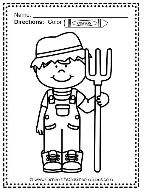 Fern's Freebie Friday ~ FREE Color For Fun Farm Boy
