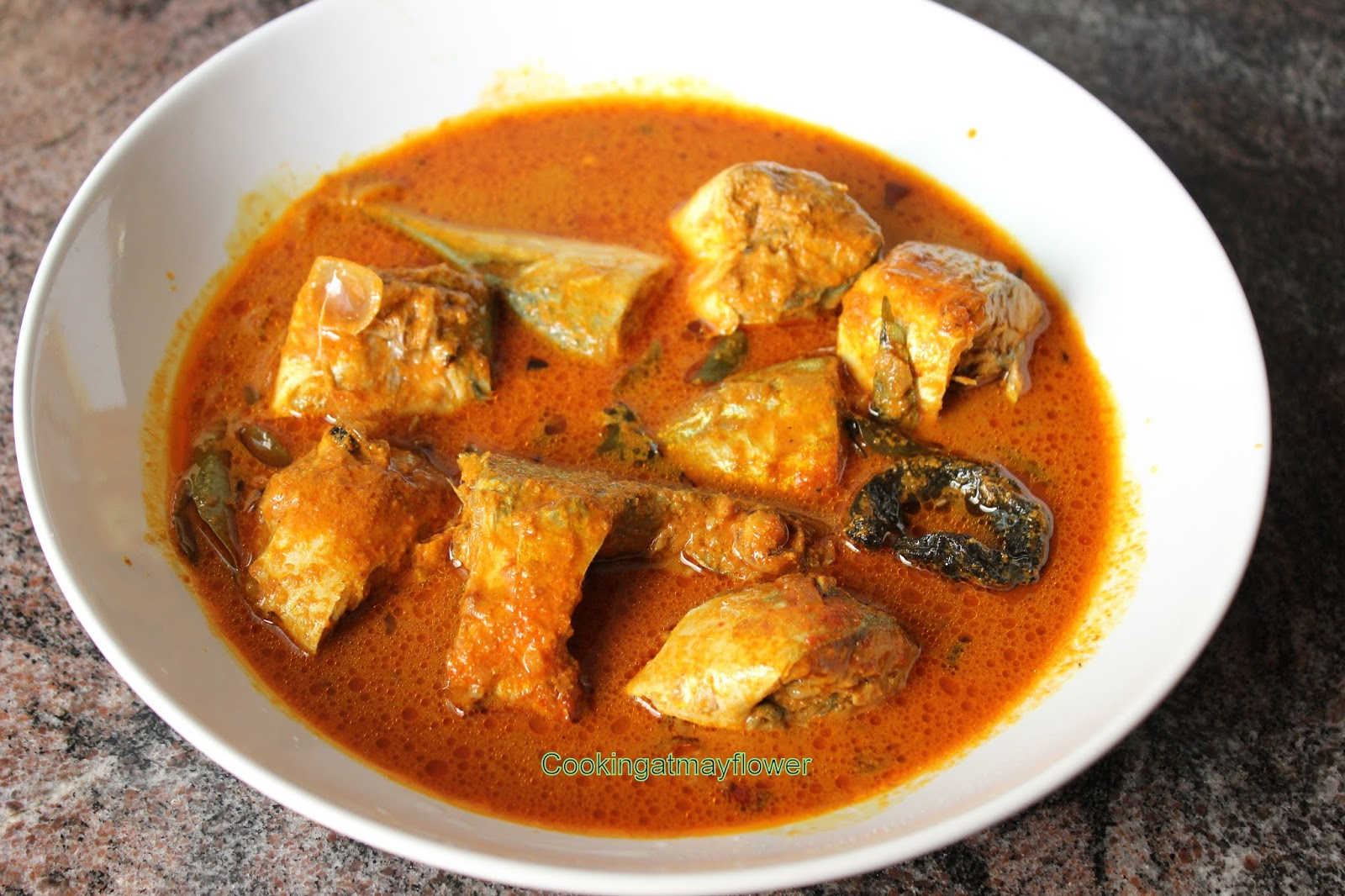 Cooking at Mayflower: Kerala Fish curry in coconut gravy ...
