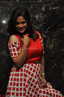 Shilpa Chakravarthy looks super cute in Red Frock style Dress 018.JPG