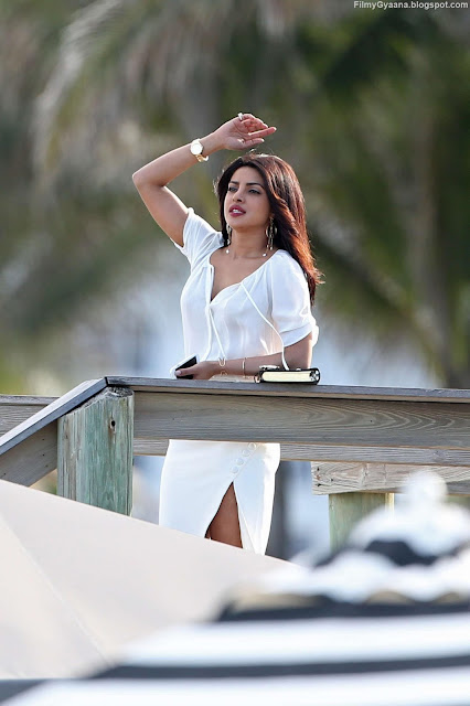 Priyanka Chopra in White Dress Photo