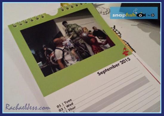 Kitchen calendar from snapfish